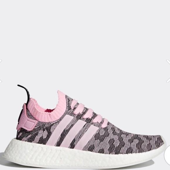 adidas nmd r2 primeknit rosa schwarze sz 7 poshmark